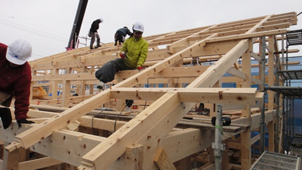 伝統工法で作る土壁の家2