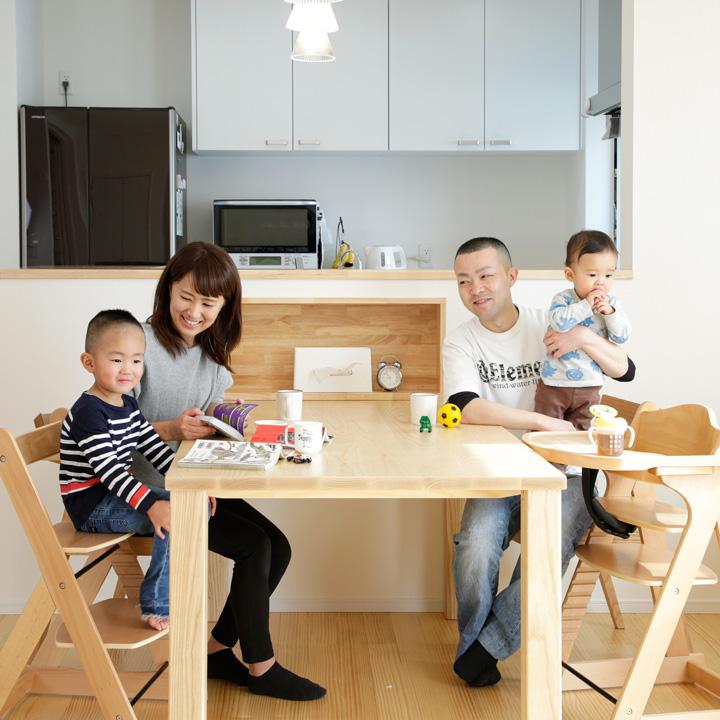 家事を時短し子育てに余裕をもたらす住まい