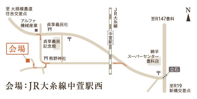 安曇野市三郷見学会地図